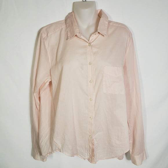feeef38585cfd LOFT Tops | Ann Taylor The Softened Pink Button Blouse Lg | Poshmark